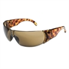 Women's Safety Glasses, Tortoise Shell Frame, Espresso Anti-Scratch Lens, 10/Box