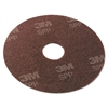 "Surface Preparation Pad, 20"" Diameter, Maroon, 10/Carton"