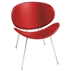 Sy Leather Guest Chair, Red