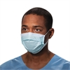 Procedure Mask, Pleat-Style w/Ear Loops, Blue, 500/Carton