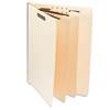 Universal Manila End Tab Folders with Full Cut, Letter, Six-Section, 10/Box