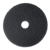 "3M Low-Speed Stripper Floor Pad 7200, 13"", Black, 5/Carton"