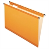 Pendaflex SureHook Poly Laminate Hanging Folders, Legal, 1/5 Tab, Orange 20/Box