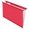 Pendaflex SureHook Poly Laminate Hanging Folders, Legal, 1/5 Tab, Red, 20/Box
