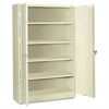 Assembled Jumbo Steel Storage Cabinet, 48w x 24d x 78h, Putty