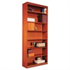 Square Corner Wood Bookcase, Seven-Shelf, 35-5/8 x 11-3/4 x 84, Medium Cherry