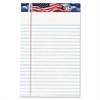 TOPS American Pride Writing Pad, Narrow, 5 x 8, White, 50 Sheets, Dozen