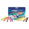 Ambrite Paper Chalk, Assorted Colors, 12 Sticks/Set
