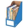 Cardboard Magazine File, 6 1/4 x 12 1/4 x 13, Blue, 3/PK