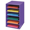 Fellowes Vertical Classroom Organizer, 6 shelves, 11 7/8 x 13 1/4 x 18, Purple