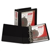 "Samsill Speedy Spine Heavy-Duty D-Ring View Binder, 11 x 8 1/2, 3"" Cap, Black"