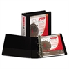 "Samsill Speedy Spine Heavy-Duty D-Ring View Binder, 11 x 8 1/2, 2"" Cap, Black"