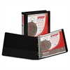 "Samsill Speedy Spine Heavy-Duty D-Ring View Binder, 11 x 8 1/2, 1 1/2"" Cap, Black"