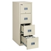 FireKing Patriot Insulated Four-Drawer Fire File, 17-3/4w x 25d x 52-3/4h, Parchment