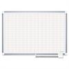 "Platinum Plus Dry Erase Planning Board Bd, 1x2"" Grid, 48x36, Aluminum Frame"