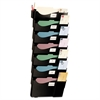 Officemate Grande Central Wall Filing System, Seven Pockets, 16 5/8 x 4 3/4 x 38 1/4, Black
