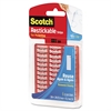 "Scotch Restickable Mounting Tabs, 1"" x 3"", Clear, 6/Pack"