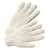 Anchor Brand String Knit Gloves, Large, Natural White, 12 Pairs