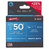 Arrow T50 Heavy Duty Staples, 3/8""