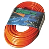 Vinyl Extension Cord, 100ft, AWG 16/3, SJTW-A, Orange