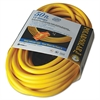 CCI Polar/Solar Outdoor Extension Cord, 50ft, Three-Outlets, Yellow