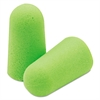 Moldex Pura-Fit Single-Use Earplugs, Cordless, 33NRR, Bright Green, 200 Pairs