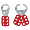 "Master Lock Steel Lockout Hasp, Steel/Vinyl, 1 3/4"", Red"