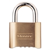"Master Lock Resettable Combination Padlock, Brass, 2"", Brass Color, 6/Box"