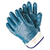 Memphis Predator Premium Nitrile-Coated Gloves, Blue/White, Large, 12 Pairs