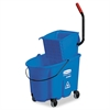 WaveBrake Side-Press Wringer/Bucket Combo, 8.75gal, Blue