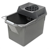 Rubbermaid Commercial Pail/Strainer Combination, 15qt, Steel Gray