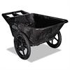 Rubbermaid Commercial Big Wheel Agriculture Cart, 300-lb Cap, 32-3/4 x 58 x 28-1/4, Black