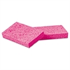 "Small Pink Cellulose Sponge, 3 3/5 x 6 1/2"", 9/10"" Thick, Pink, 48/Carton"