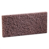 3M Doodlebug Scrub 'n Strip Pad, 4 5/8 x 10, Brown, 20/Carton