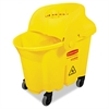 Rubbermaid Commercial WaveBrake Institutional Bucket/Strainer Combo, 8.75gal, Yellow