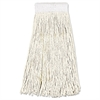 Boardwalk Mop Head, Premium Saddleback Head, Cotton Fiber, 24oz, White, 12/Carton