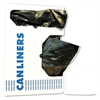 Boardwalk Low-Density Can Liners, 24x23, 8-10gal, .35 Mil, Black, 50 Bags/RL, 10 Rolls/CT