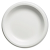 Elite Laminated Foam Plates, 8.88 Inches, White, Round, 125/Pack, 4 Pack/Carton