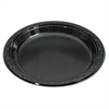 Silhouette Black Plastic Plates, 10 1/4 Inches, Round