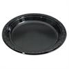 Genpak Silhouette Black Plastic Plates, 10 1/4 Inches, Round