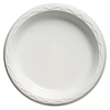Aristocrat Plastic Plates, 9 Inches, White, Round, 125/Pack