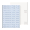 Security Paper, Blue, 8-1/2 x 11, 500/Ream