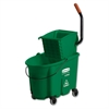 Rubbermaid Commercial WaveBrake Side-Press Wringer/Bucket Combo, 8.75 gal, Green