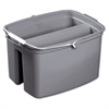 Rubbermaid Commercial Double Utility Pail, 17qt, Gray