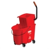 WaveBrake Side-Press Wringer/Bucket Combo, 8.75 gal, Red
