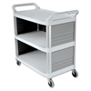 Rubbermaid Commercial Xtra Utility Cart, 300-lb Cap, Three-Shelf, 20w x 40-5/8d x 37-4/5h, Off-White