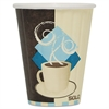 SOLO Cup Company Duo Shield Insulated Paper Hot Cups, 8oz, Tuscan, Chocolate/Blue/Beige, 50/Pk