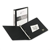 "Avery Economy View Binder w/Round Rings, 11 x 8 1/2, 1"" Cap, Black"