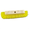 "Boardwalk Dual-Surface Scrub Brush, Plastic Fill, 10"" Long, Yellow"