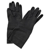 "Neoprene Flock-Lined Gloves, Long-Sleeved, 12"", Large, Black, Dozen"